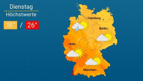Durchwegs sonnig | Das Wetter für Augsburg und Deutschland
