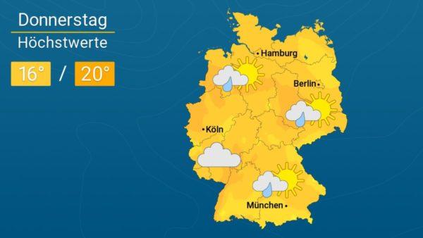 Teils bewölkt, teils freundlich| Das Wetter für Augsburg und Deutschland