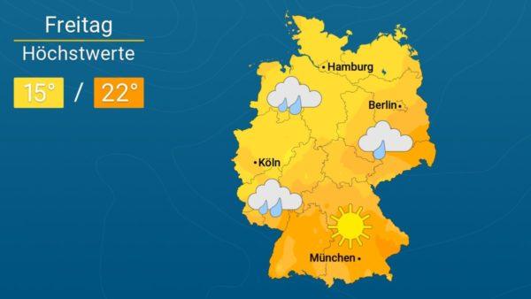Mix aus Wolken und Sonne | Das Wetter für Augsburg und Deutschland