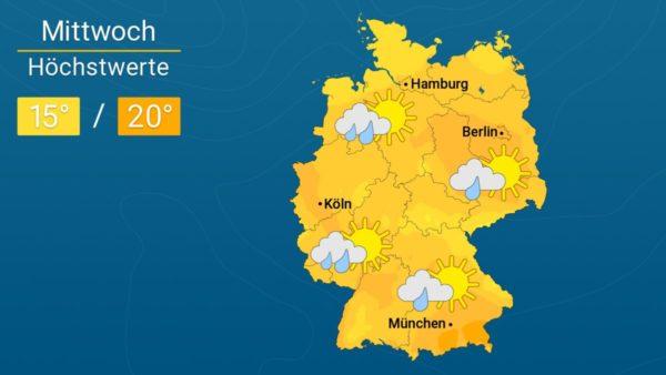 Sebastian rauscht heran | Das Wetter für Augsburg und Deutschland