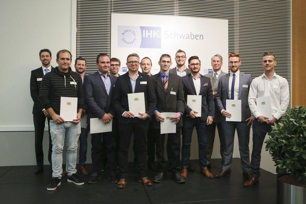 IHK-Meisterpreisträger_271017 Ausgezeichnet! 89 IHK-Meisterpreise für die besten Absolventen Augsburg Stadt News Newsletter Wirtschaft IHK Augsburg |Presse Augsburg