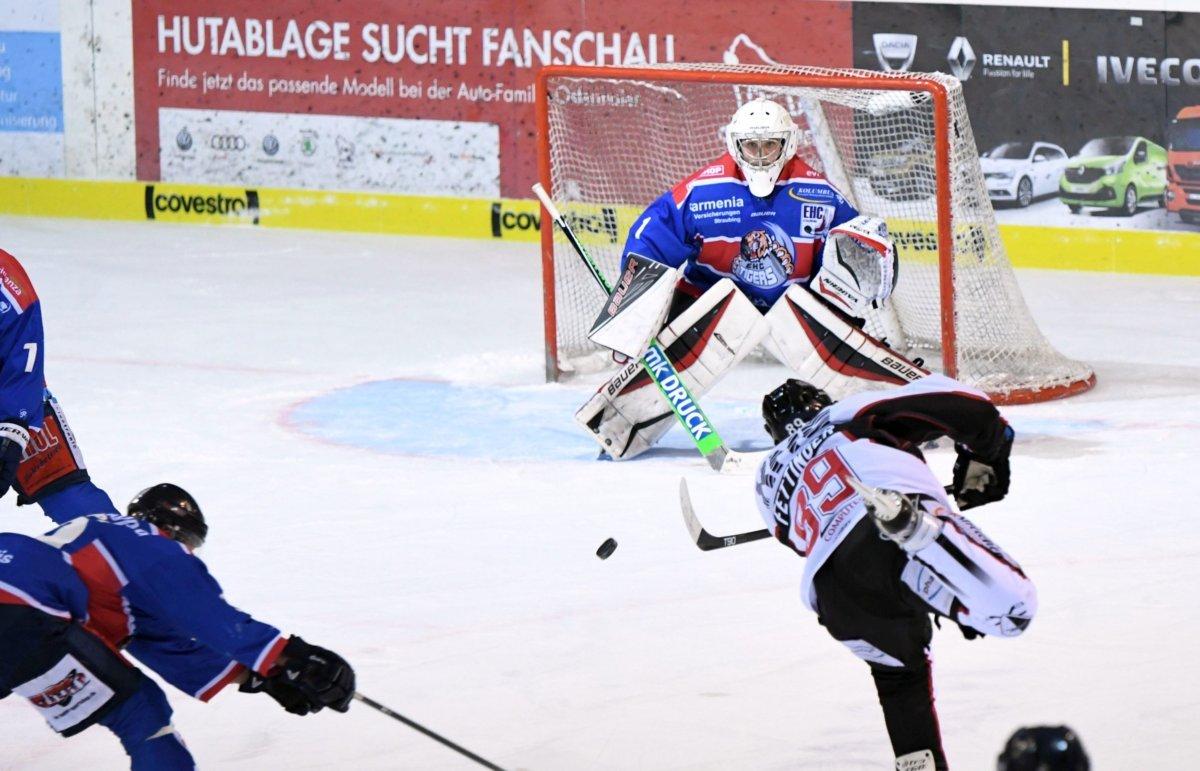 Fetti EHC Königsbrunn triumphiert mit Rumpfkader in Dingolfing Landkreis Augsburg mehr Eishockey News Sport EHC Königsbrunn EV Dingolfing |Presse Augsburg