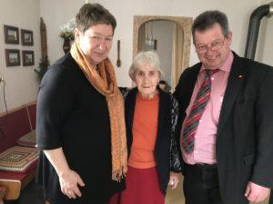 Berta Dürrwanger seit 45 Jahren in der SPD Haunstetten
