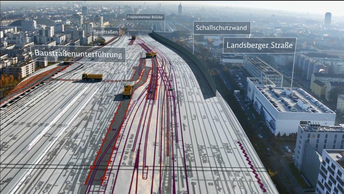 2SBSS-1-Baustelleneinrichtung-Oberirdisch-West Baurecht für 2. S-Bahn-Stammstrecke München komplett Politik & Wirtschaft Überregionale Schlagzeilen München S-Bahn Stammstrecke  Presse Augsburg