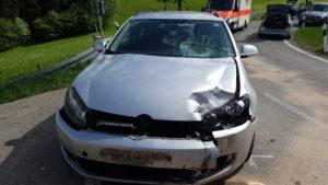 Allgäu | In Gegenverkehr geraten - Bikerin wird bei Unfall schwer verletzt