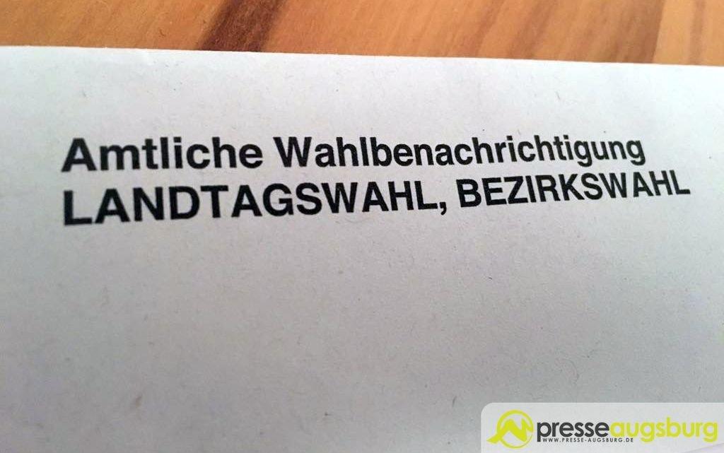 landtagswahl-bezirkswahl Landsberg | Nicht alle Wähler haben eine Wahlberechtigungskarte erhalten - Teilnahme auch ohne möglich Bayern Landsberg am Lech Landsberg am Lech Landtagswahl Wahlberechtigungskarte |Presse Augsburg