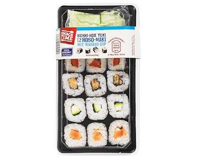 kw1218_SoSo_SnackRegal_Sushibox_da ACHTUNG!   Plastikteile in Sushi-Box von Aldi und Penny möglich Politik & Wirtschaft Überregionale Schlagzeilen Aldi Penny Rückruf Sushi  Presse Augsburg