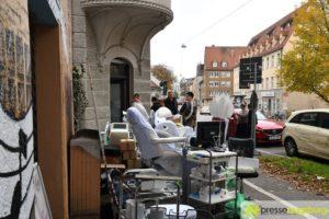 Haus in Augsburg evakuiert - Geschäfte finden Übergangslösungen
