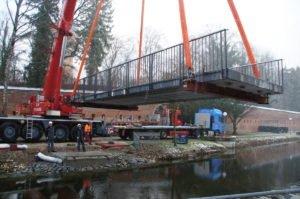 Neu-Ulm   Neue Brücke für den Stadtpark Glacis