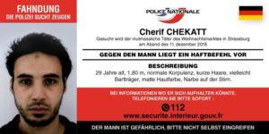 Polizei sucht mit Fahndungsfoto nach Straßburger Attentäter