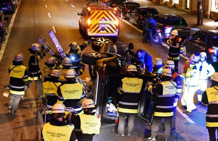 Fw M Verkehrsunfall Person Eingeschlossen Innenstadt