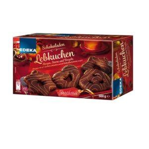 Lebensmittelrückruf |EDEKA Schokoladen Lebkuchen, Herzen, Sterne und Brezeln Zartbitter 500 Gramm