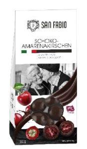 Lebensmittelrückruf |San Fabio Amarenakirschen in dunkler Schokolade, 150g (EAN-Code: 28278320)