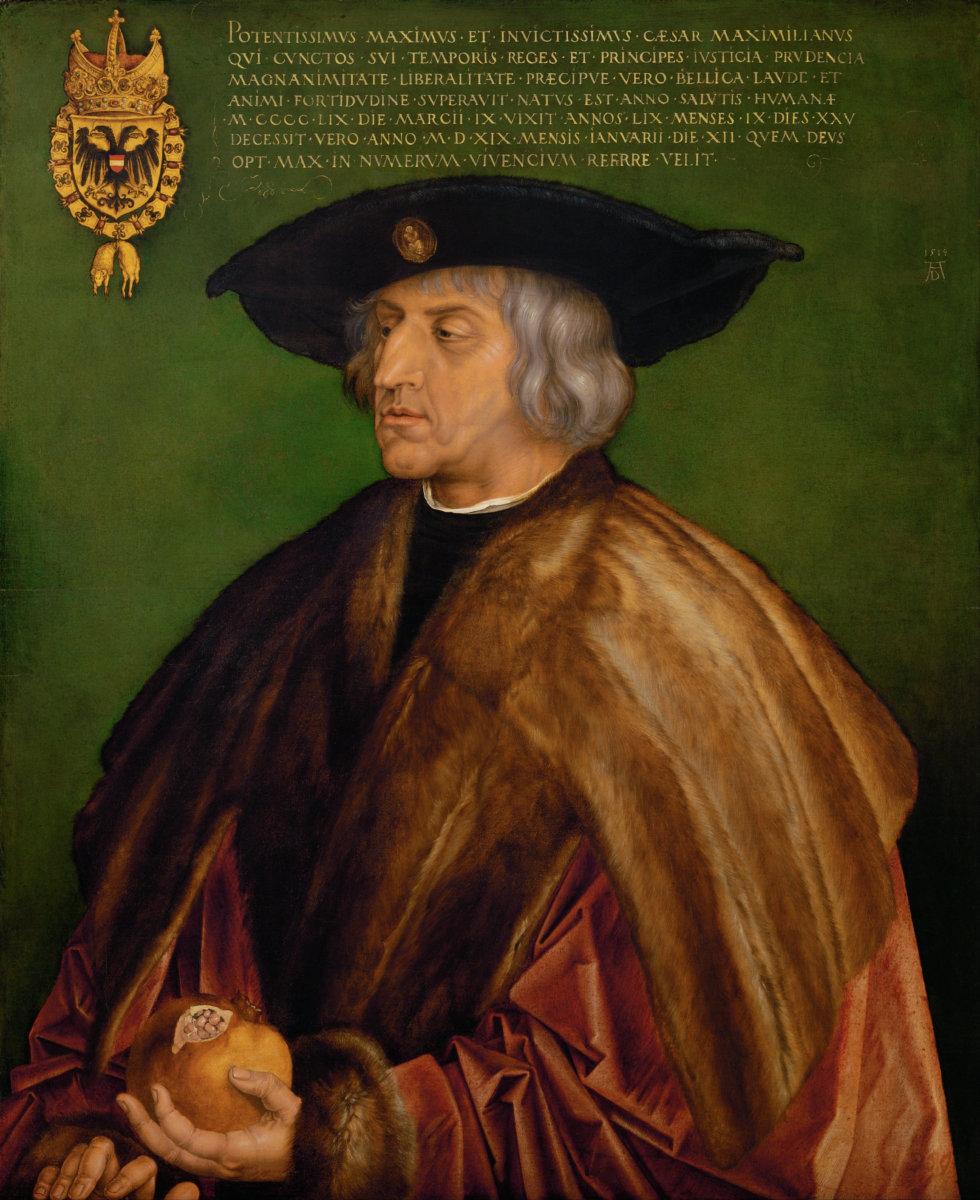 Albrecht_Dürer_-_Portrait_of_Maximilian_I_-_Google_Art_Project Stadtgeschichte(n) | Maximilian I. und Augsburg Augsburg Stadt Kunst & Kultur Augsburg Maximilian I |Presse Augsburg