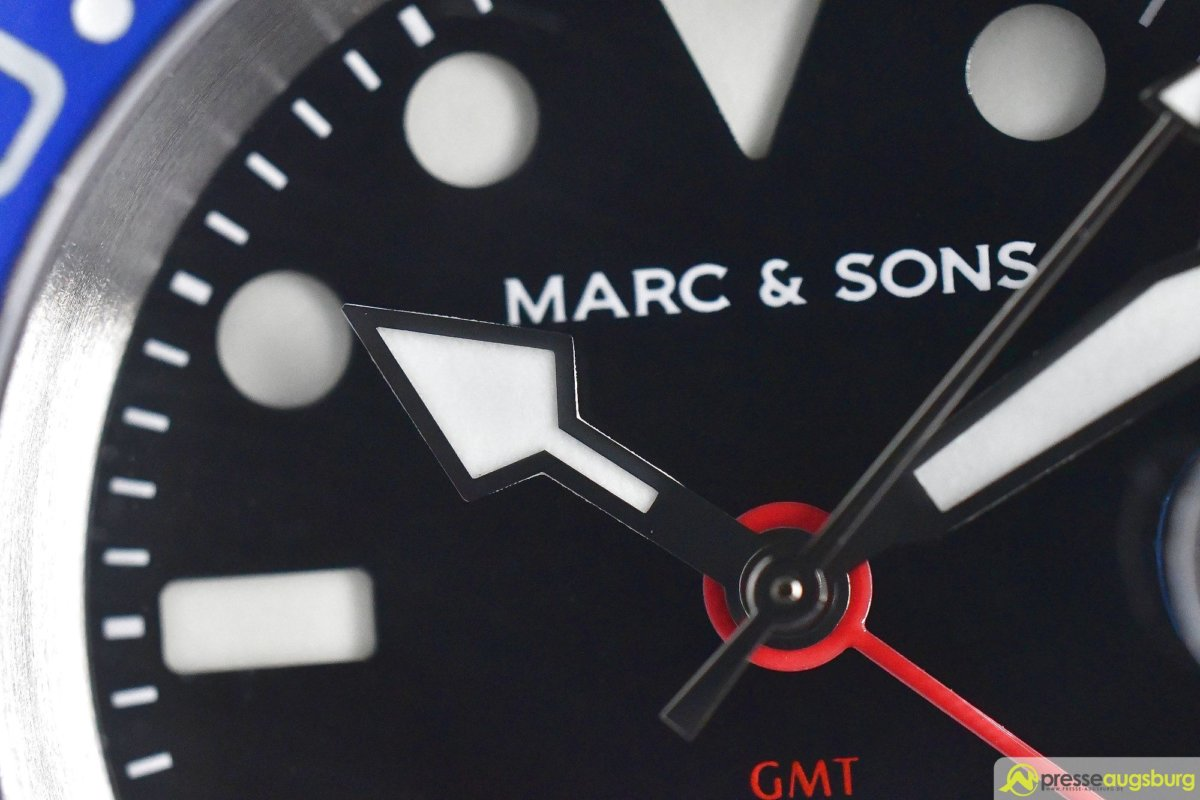 MARCANDSONS_GMT_008_ergebnis Made in Germany trifft auf Swiss-Made | Die MARC & SONS Taucheruhren-Serie GMT MSG-007 im Presse Augsburg-Test Bildergalerien News noad Technik & Gadgets GMT Diver GMT MSG-007 Made in Germany MARC & SONS Taucheruhr Test | Presse Augsburg