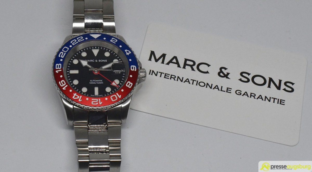 MARCANDSONS_GMT_015_ergebnis Made in Germany trifft auf Swiss-Made | Die MARC & SONS Taucheruhren-Serie GMT MSG-007 im Presse Augsburg-Test Bildergalerien News noad Technik & Gadgets GMT Diver GMT MSG-007 Made in Germany MARC & SONS Taucheruhr Test | Presse Augsburg