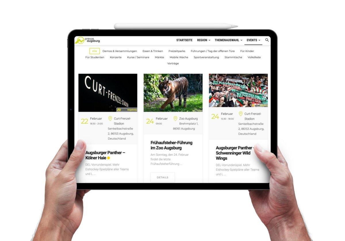 ipad Event anlegen |Presse Augsburg