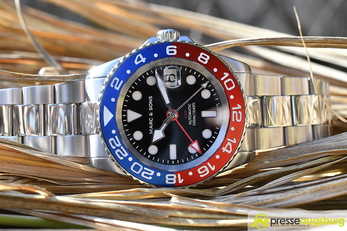 marc_and_sons_037 Made in Germany trifft auf Swiss-Made | Die MARC & SONS Taucheruhren-Serie GMT MSG-007 im Presse Augsburg-Test Bildergalerien News noad Technik & Gadgets GMT Diver GMT MSG-007 Made in Germany MARC & SONS Taucheruhr Test | Presse Augsburg