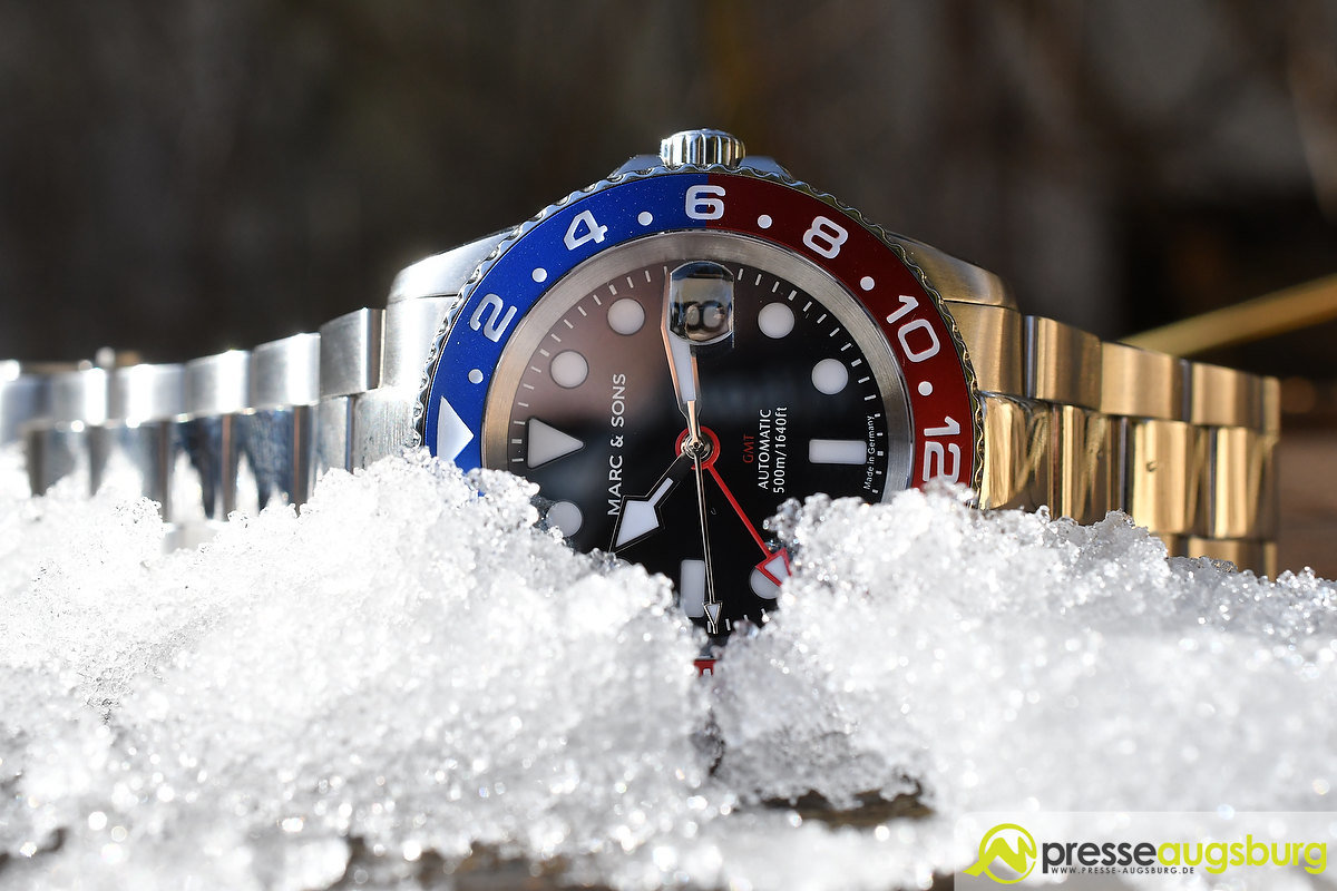 marc_and_sons_040 Made in Germany trifft auf Swiss-Made | Die MARC & SONS Taucheruhren-Serie GMT MSG-007 im Presse Augsburg-Test Bildergalerien News noad Technik & Gadgets GMT Diver GMT MSG-007 Made in Germany MARC & SONS Taucheruhr Test | Presse Augsburg