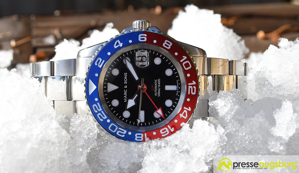 marc_and_sons_042 Made in Germany trifft auf Swiss-Made | Die MARC & SONS Taucheruhren-Serie GMT MSG-007 im Presse Augsburg-Test Bildergalerien News noad Technik & Gadgets GMT Diver GMT MSG-007 Made in Germany MARC & SONS Taucheruhr Test | Presse Augsburg