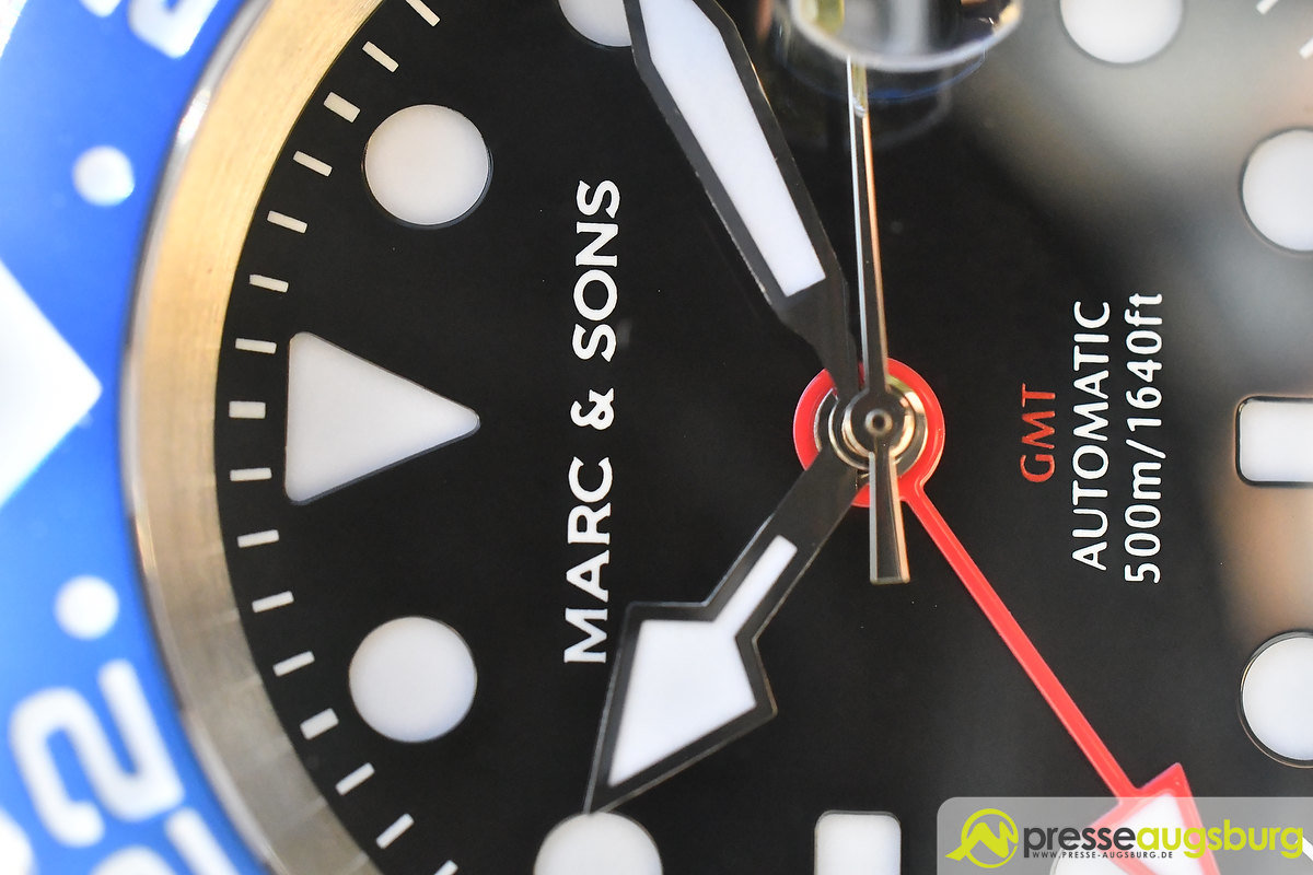 marc_and_sons_043 Made in Germany trifft auf Swiss-Made | Die MARC & SONS Taucheruhren-Serie GMT MSG-007 im Presse Augsburg-Test Bildergalerien News noad Technik & Gadgets GMT Diver GMT MSG-007 Made in Germany MARC & SONS Taucheruhr Test | Presse Augsburg