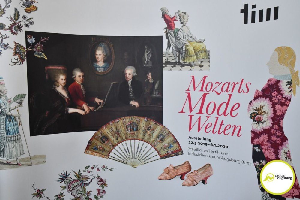 2019-03-20-Mozart-–-01 tim zeigt Sonderausstellung zum 300. Geburtstag von Leopold Mozart Augsburg Stadt Bildergalerien Kunst & Kultur News Newsletter Augsburg Leopold Mozart Mozart Staatliches Textil- und Industriemuseum (tim) |Presse Augsburg
