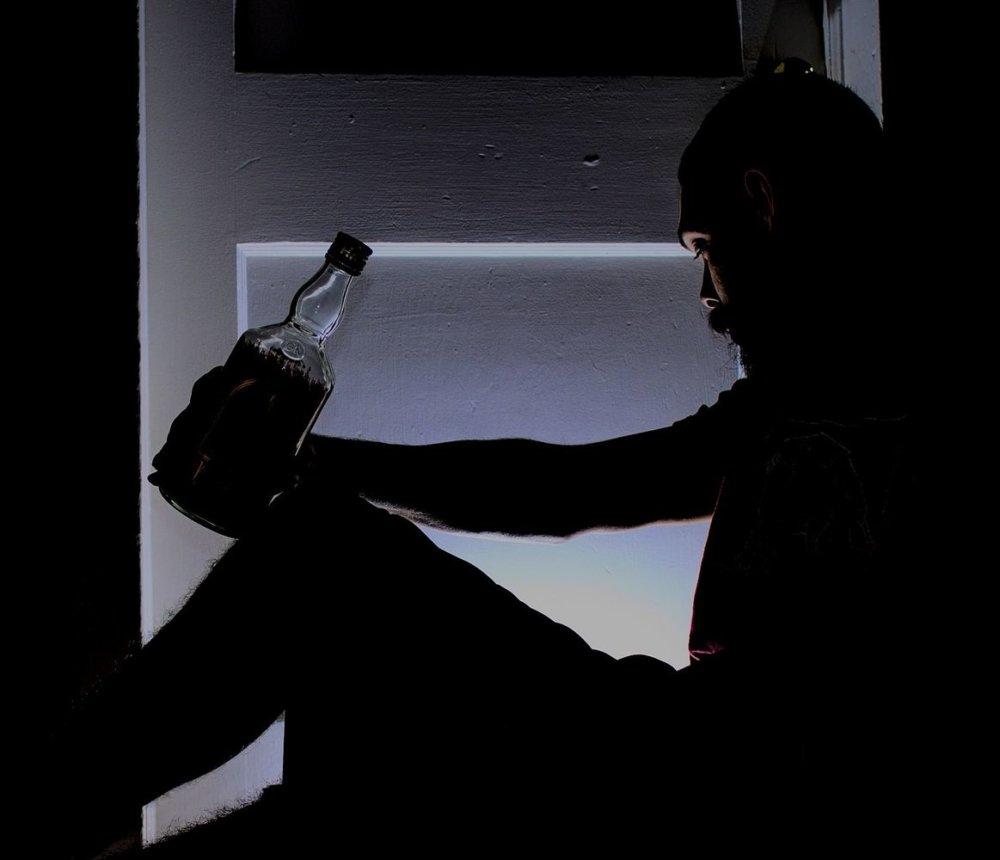Betrunkener Alkohol Mann Traurig
