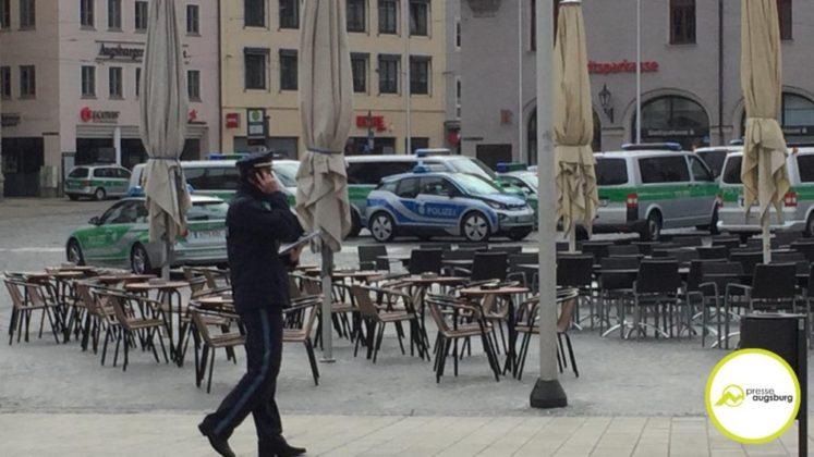 Evakuierung Drohung Augsburg1