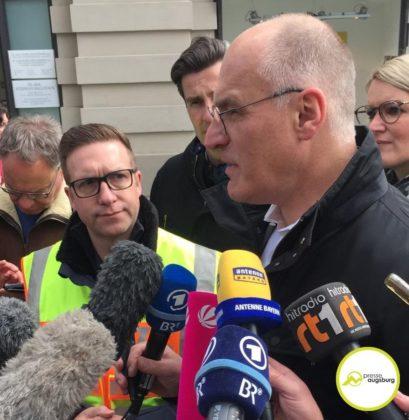 Evakuierung Drohung Augsburg6