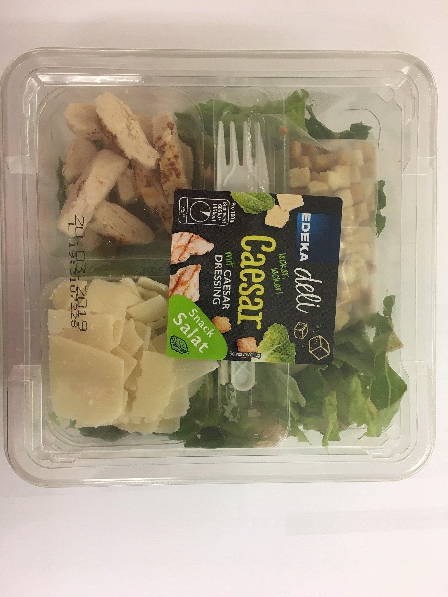 Verbraucherwarnung Edeka Deli Caesar Snack Salat