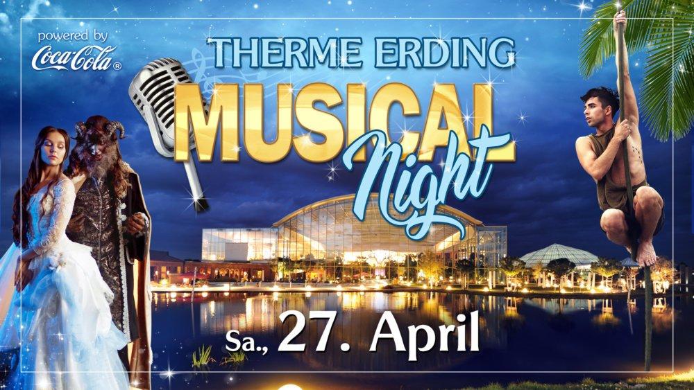 Musical-Night-Eventankündigung Musical Night unter Palmen in der Therme Erding am 27. April Augsburg Stadt Freizeit Konzerte News Therme Erding |Presse Augsburg