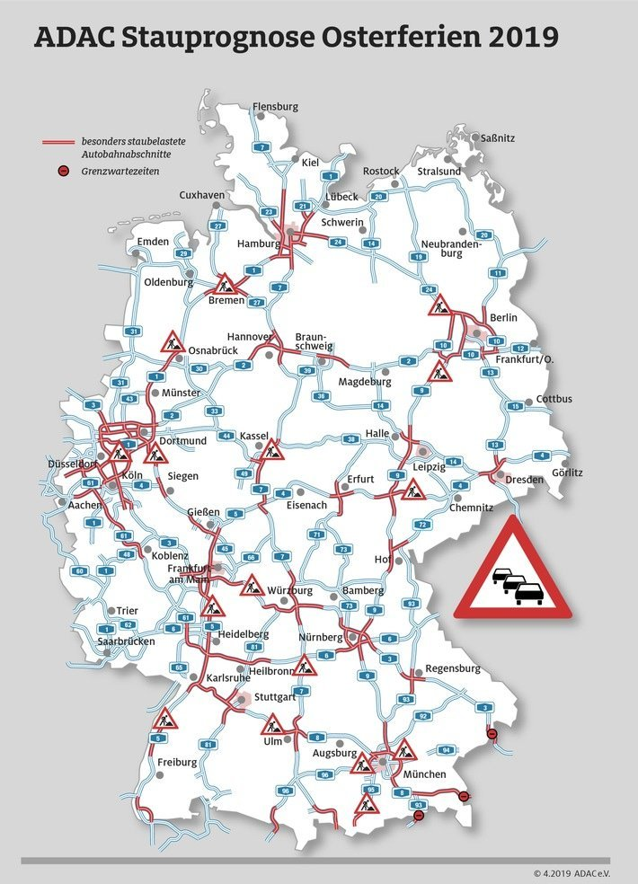Staualarm Am Osterwochenende Adac Stauprognose F R 18 Bis 22 April