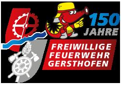Logo-FFW-Gersthofen-Jubiläum Innenminister gratuliert der Freiwilligen Feuerwehr Gersthofen zum 150-jährigen Bestehen Landkreis Augsburg News Newsletter Freiwillige Feuerwehr Gersthofen |Presse Augsburg