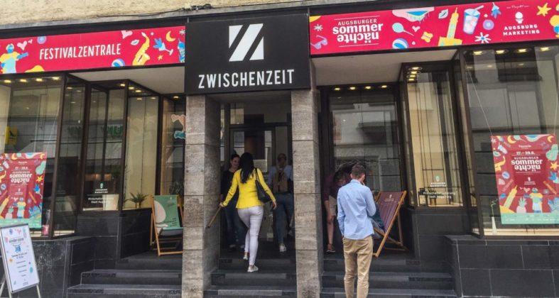 5 Sommernächte Festivalzentrale 2019 Mit Fanartikeln Augsburg Marketing