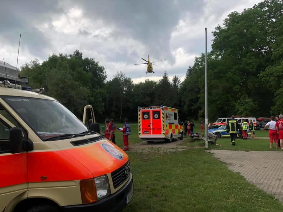 64252282_2350985424983476_8969817899506073600_n Senden | Tragischer Badeunfall am Waldsee - Mann stirbt im Krankenhaus Neu-Ulm Polizei & Co Hubschrauber Mann geht unter Waldsee Senden Wasserwacht |Presse Augsburg
