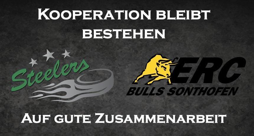 Kooperation-Bietigheim Bietigheim Steelers bleiben Kooperationspartner des ERC Sonthofen mehr Eishockey News Oberallgäu Sport Bietigheim Steelers ERC Sonthofen Bulls |Presse Augsburg