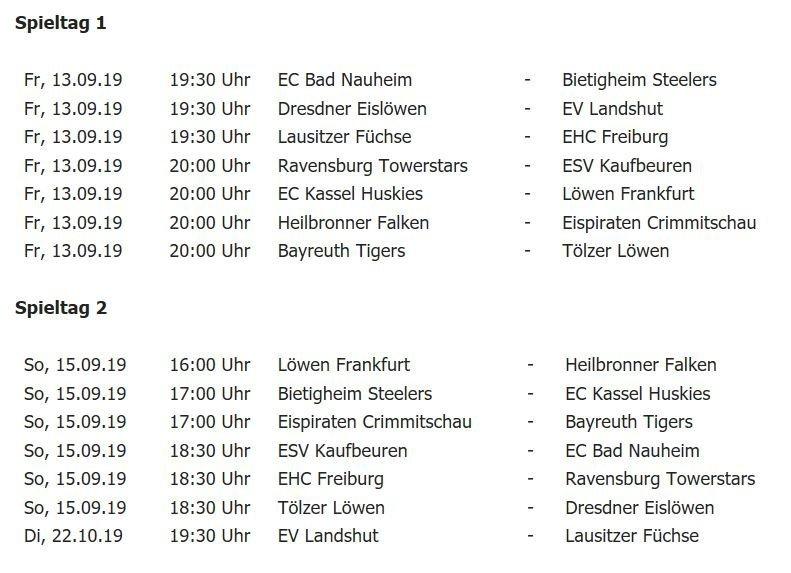 Unbenannt-14 DEL2-Spielplan | Kaufbeuren startet bei Meister Ravensburg in die Saison Kaufbeuren mehr Eishockey Sport DEL2 ESV Kaufbeuren ESVK Ravensburg Towerstars Spielplan |Presse Augsburg