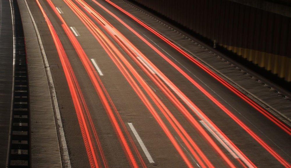 Rennen Auto Straße Nacht