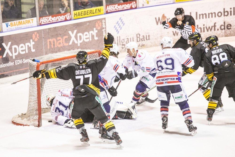 EVF-Kempten Füssen entscheidet Vorbereitungs-Derby gegen Kempten für sich mehr Eishockey News Oberallgäu Ostallgäu Sport ESC Kempten EV Füssen  Presse Augsburg