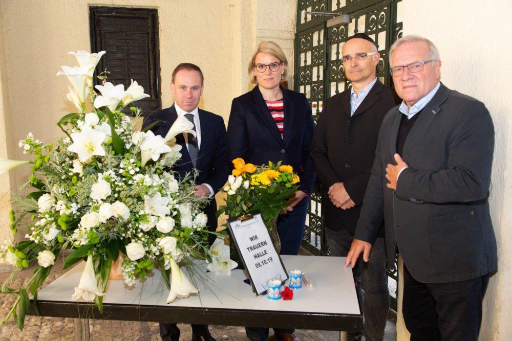 2019.10.11 Synagoge Gruppenbild Ullrich Weber Jäckel Hintersberger