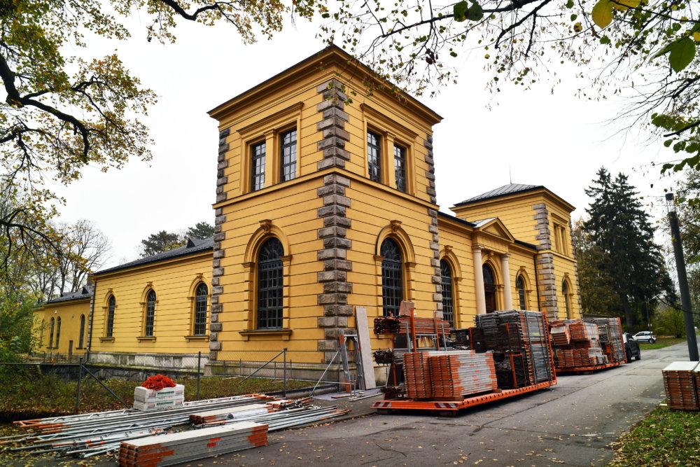 2019_11_06_Anstrich-Sanierung_Wasserwerk2 Welterbe: Augsburger Hochablass-Wasserwerk wird saniert Augsburg Stadt News Newsletter |Presse Augsburg