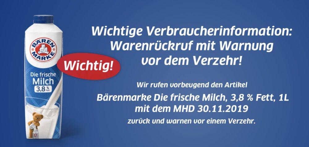 Bildschirmfoto-2019-11-09-um-08.48.13 Keime festgestellt: Bärenmarke ruft Milch zurück Bayern Überregionale Schlagzeilen Vermischtes Bärenmarke |Presse Augsburg