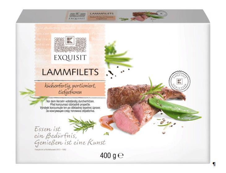Exquisit Lammfilets Kuechenfertig Portioniert Tiefgefroren 400 G