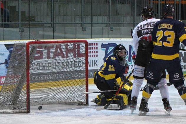 Tor-631x420 Knapper Auswärtssieg für den EHC Königsbrunn in Pfaffenhofen Bildergalerien Landkreis Augsburg mehr Eishockey News Sport Bayernliga EHC Königsbrunn Eishogs EV Pfaffenhofen Pinguine |Presse Augsburg