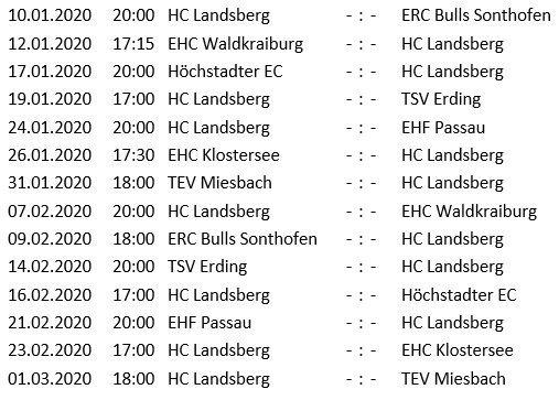 Unbenannt-5 HC Landsberg startet nach Sieg über Peißenberg in die Verzahnungsrunde - Erster Gegner Sonthofen Landsberg am Lech Sport HC Landsberg Riverkings HCL TSV Peißenberg |Presse Augsburg