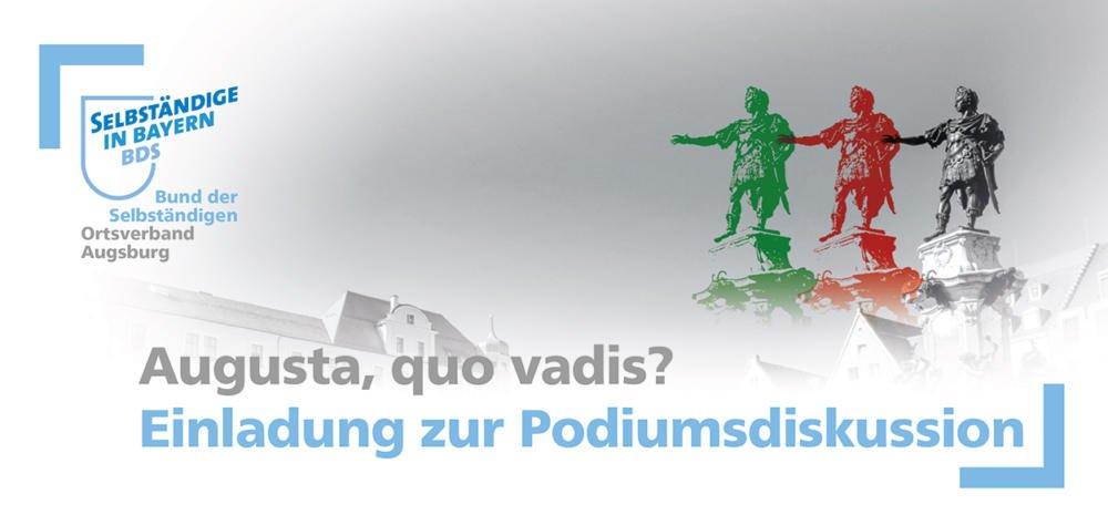 bds_ob_podium Augusta quo vadis? | Bund der Selbständigen lädt aussichtreichste OB-Kandidaten zur Podiumsdiskussion ein Augsburg Stadt News Politik Augsburg BDS Dirk Wurm Eva Weber Martina Wild Podiumsdiskussion |Presse Augsburg