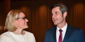 Eva Weber und Dirk Wurm haben es in Augsburg in die Stichwahl zum OB geschafft. Foto: Wolfgang Czech