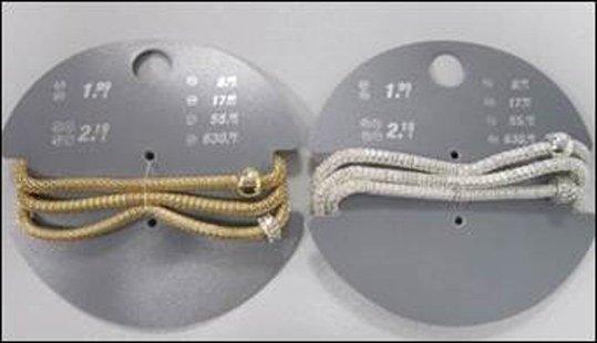 Produktrueckruf Armband Elastisch Mit Glaenzenden Perlen In Silber Und Gold