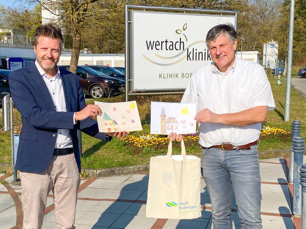 20200409-Wertachkliniken-IMG_1794 Bobingen | Kinder malen Bilder für kranke Menschen Freizeit Gesundheit Landkreis Augsburg News |Presse Augsburg