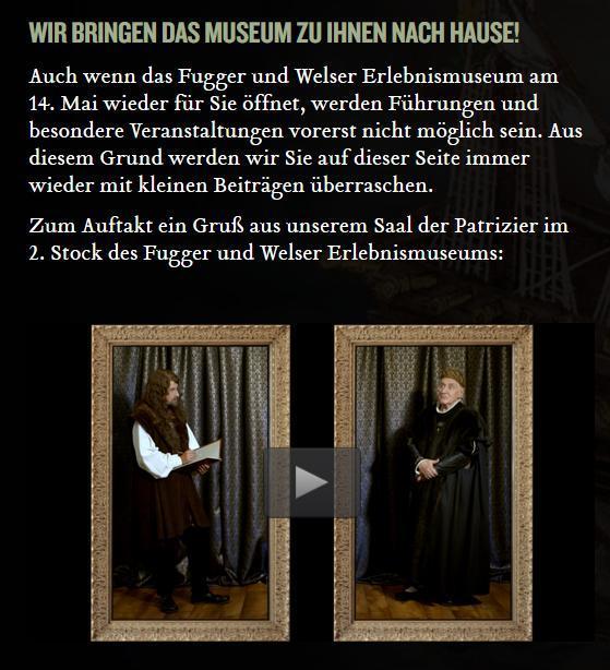 Das Fugger Und Welser Erlebnismuseum Bietet Nun Auch Digitale Inhalte An...